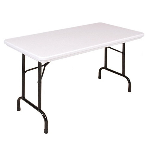 correll r2448 4 ft long plastic folding tables for sale at advantage church chairs. Black Bedroom Furniture Sets. Home Design Ideas