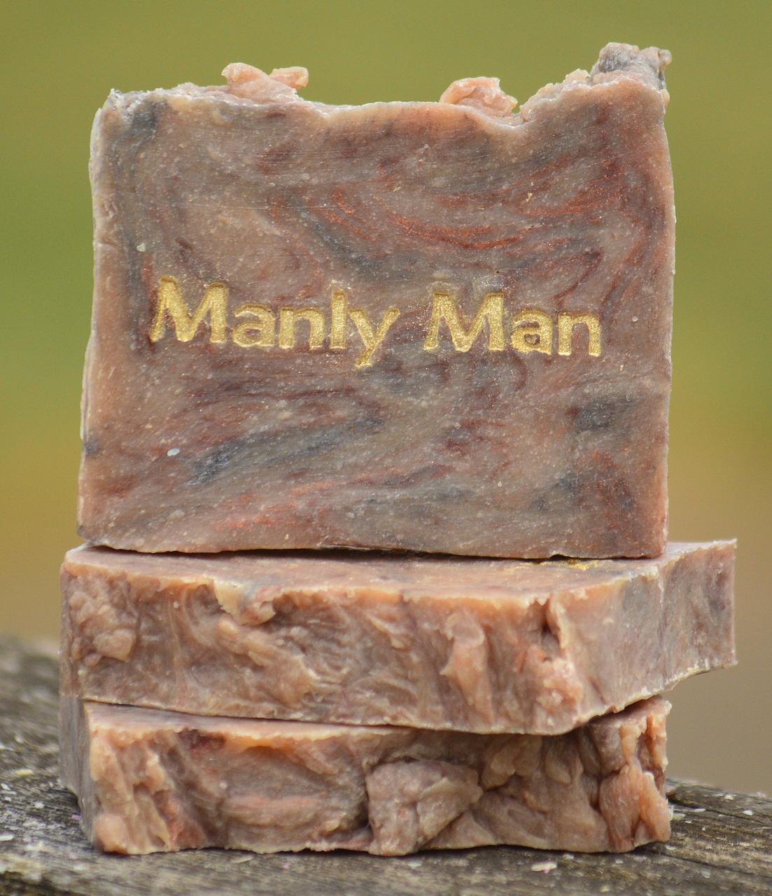 Manly Man Goat Milk Soap Slice
