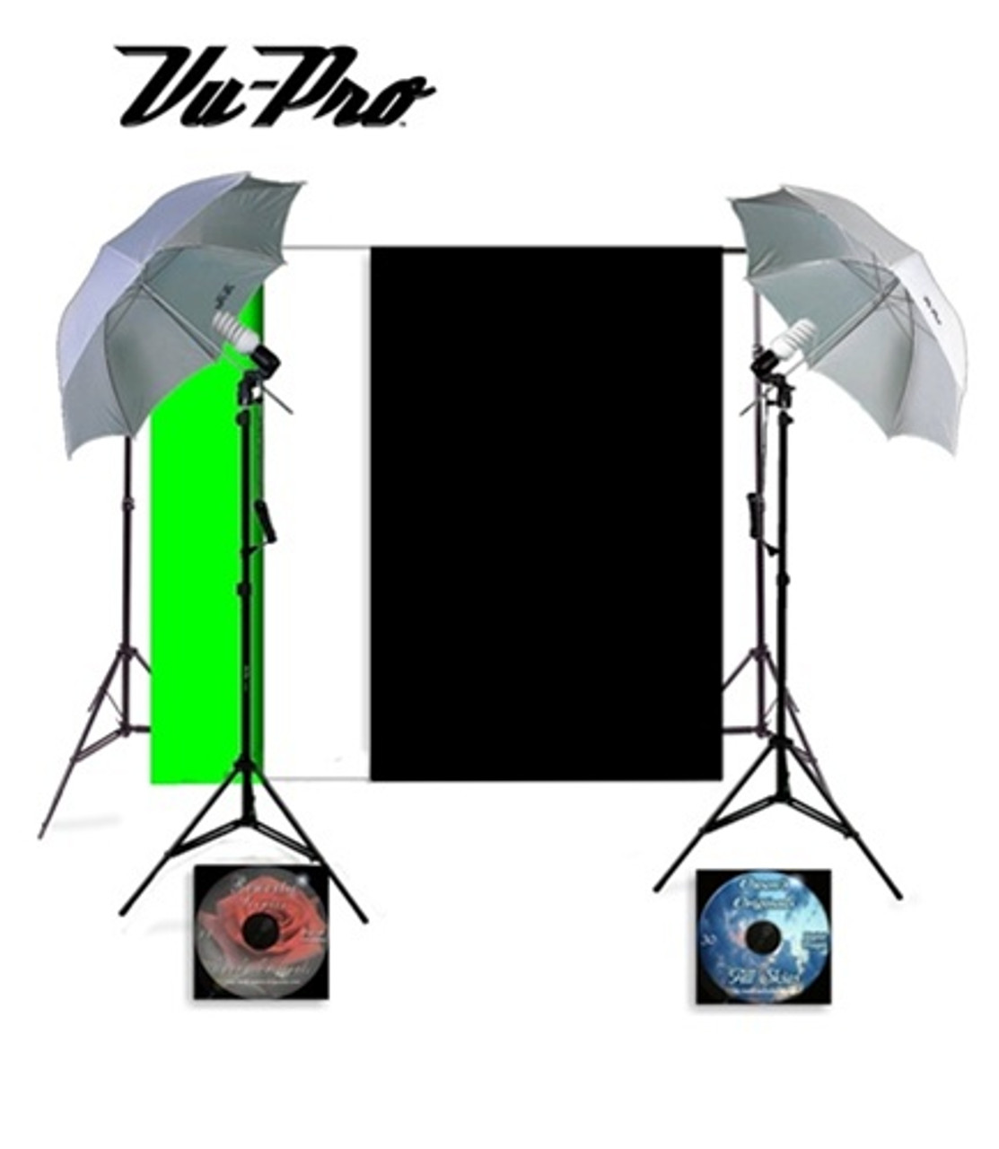 Vu-Pro Complete Basic Home Photography Studio Package Photo Lighting Photography Backdrop Stands Light Stands Plus Digital Backdrops  sc 1 st  Owens Originals & Pro Complete Basic Home Photography Studio Package Photo Lighting ... azcodes.com