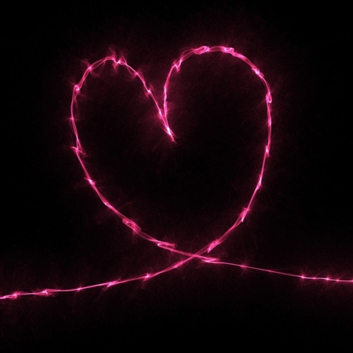 Lighted rope heart valentine backdrop aloadofball Gallery