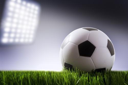 soccer ball lights sports backdrop