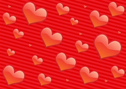 red hearts holiday valentine backdrop - Valentines Backdrops