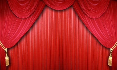Red Curtain Stage Scenic Backdrop 1