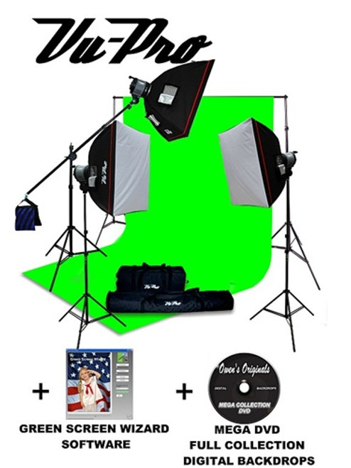 Vu-Pro Complete Digital Pro Photography Studio Package With 3000 Watt Softbox Lighting Kit Backdrop Stand ...  sc 1 st  Owens Originals & Vu-Pro Complete Digital Pro Photography Studio Package With 3000 ...