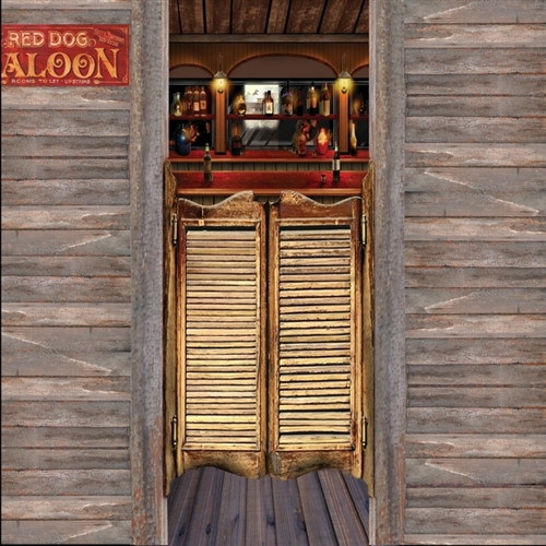 Saloon Doors Barnwood Siding Scenic Backdrop & Sunset Desert Scenic Backdrop