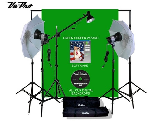 Vu-Pro Complete  Money Maker  Pro Photography Studio Package With 2200 Watt Umbrella Lighting Kit Backdrop ...  sc 1 st  Owens Originals : backdrop and lighting kit - www.canuckmediamonitor.org