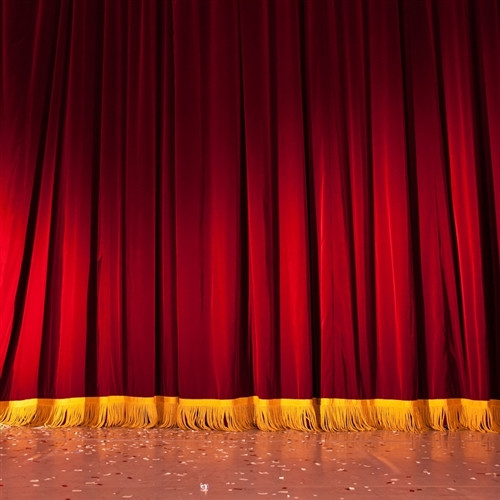 Red Curtain Stage Scenic Backdrop 3