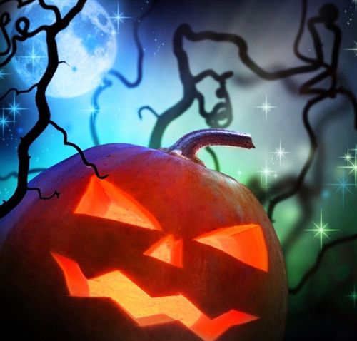 jack o lantern halloween backdrop