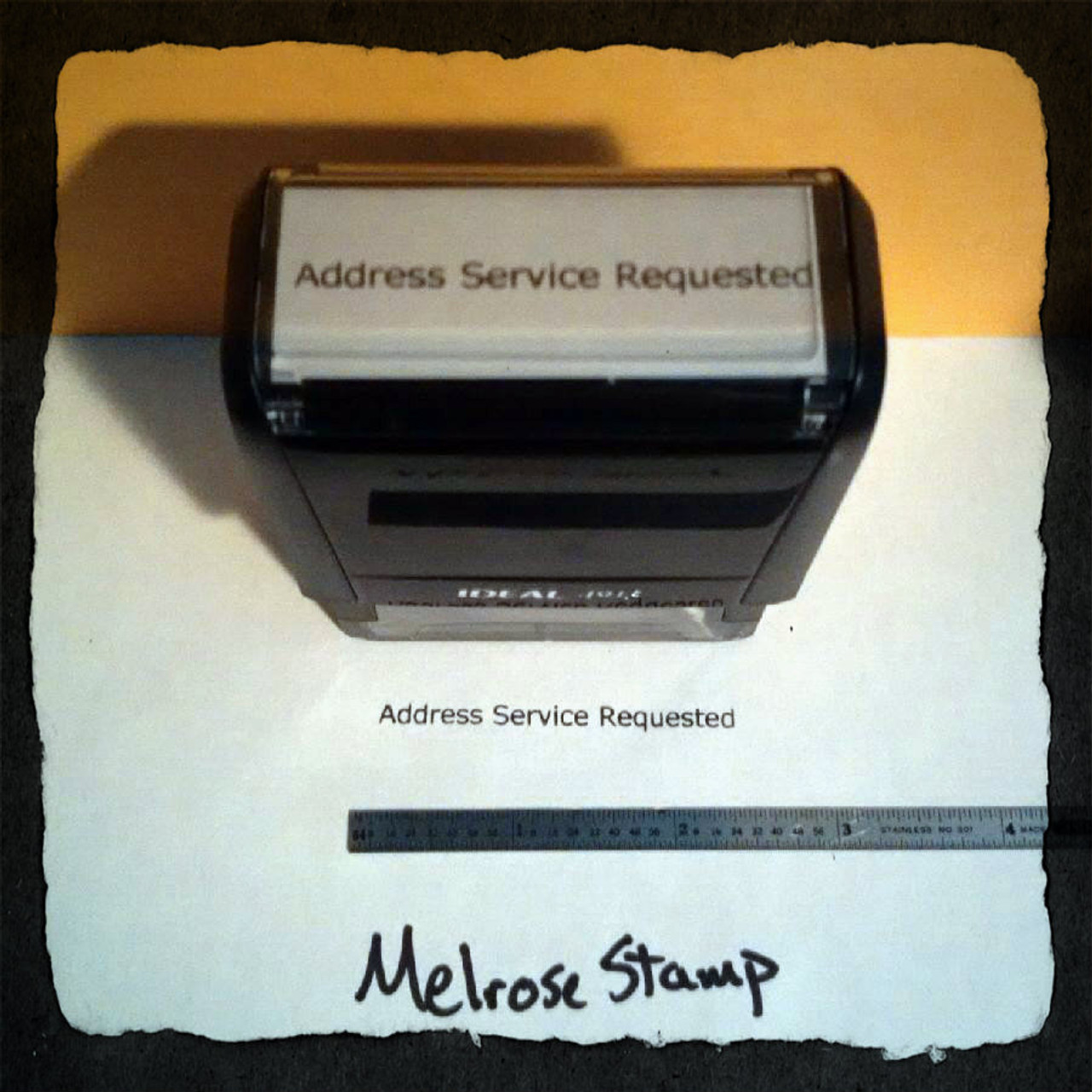 ADDRESS SERVICE REQUESTED Rubber Stamp for mail use self-inking