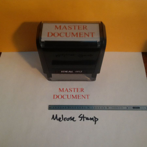MASTER DOCUMENT Rubber Stamp for office use self-inking
