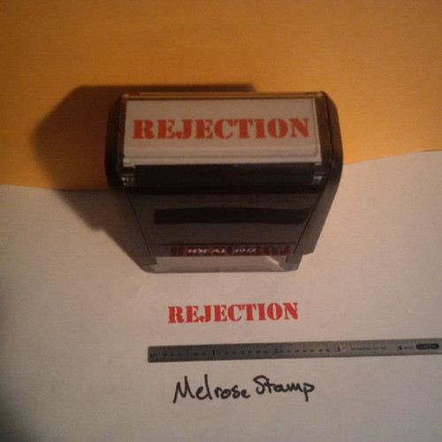 REJECTION Rubber Stamp for office use self-inking