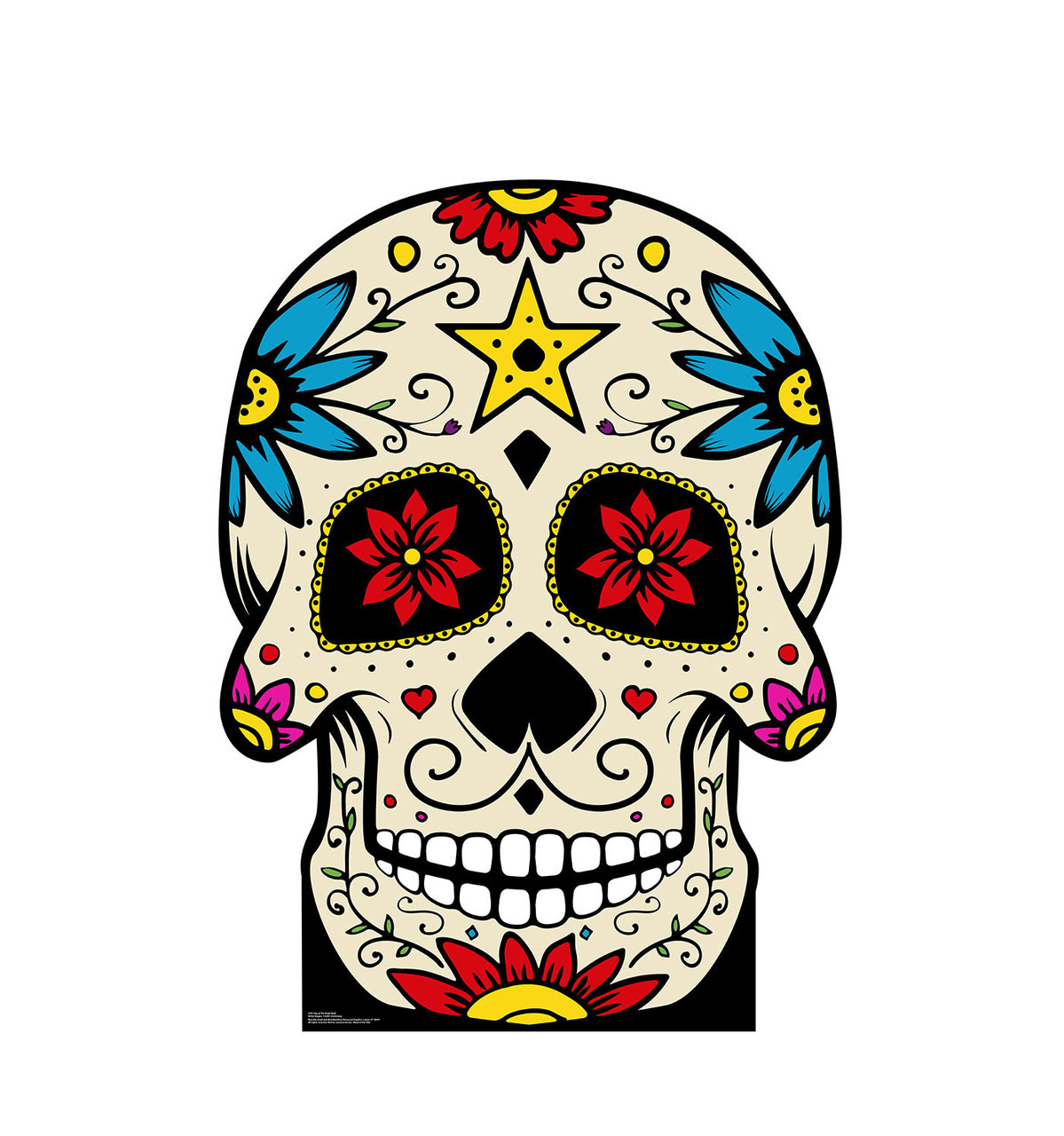 Life Size Day Of The Dead Skull Cardboard Standup 3