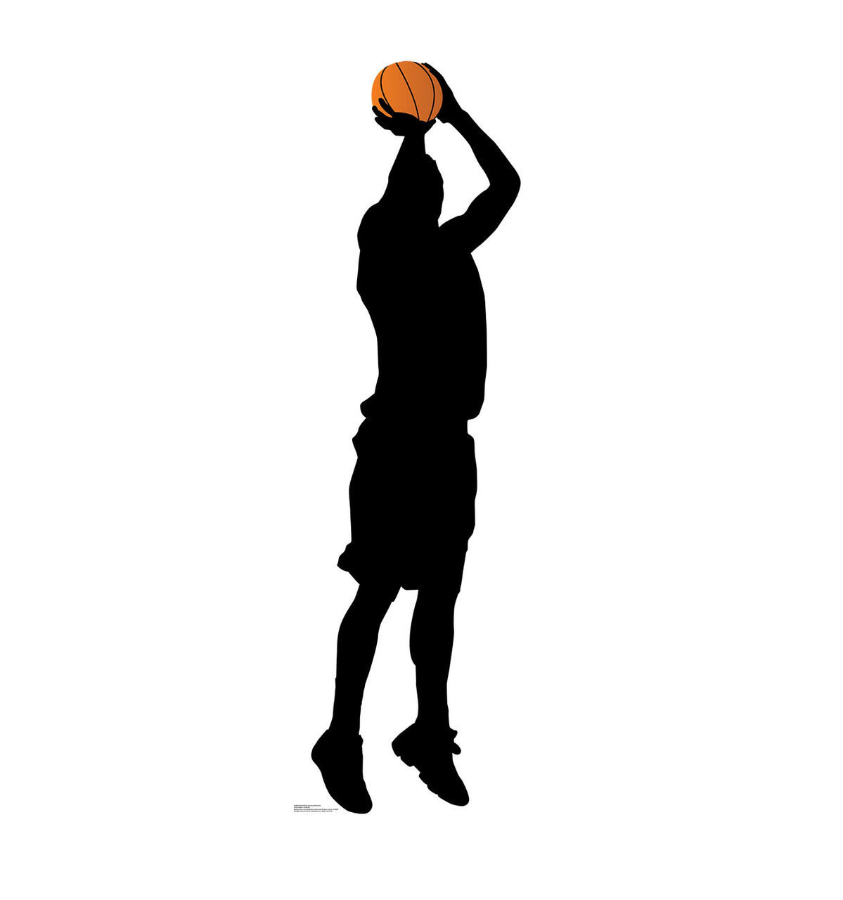 life size basketball player shooting silhouette cardboard standup 3