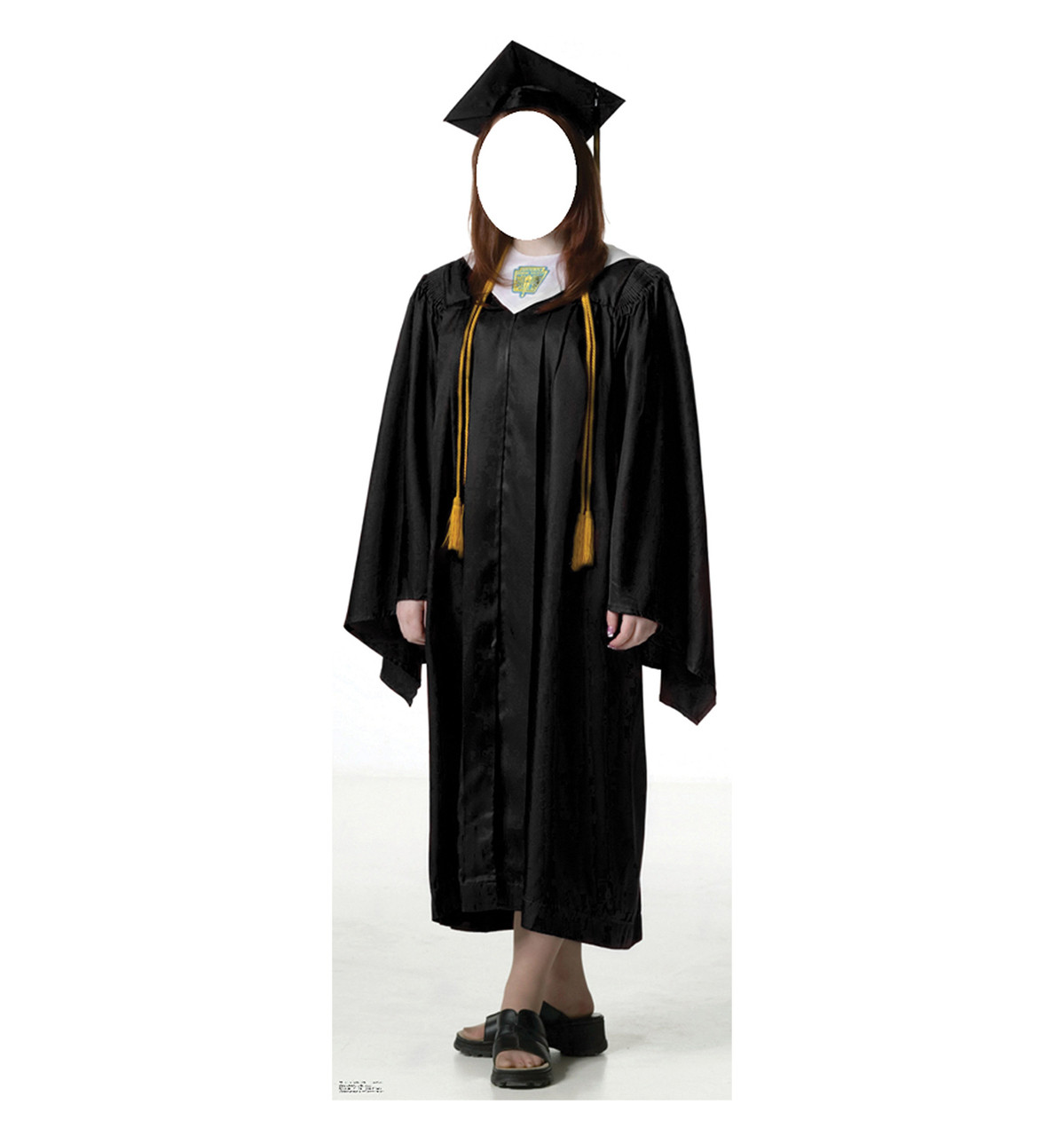Life-size Female Graduate Black Cap and Gown Cardboard Standup ...