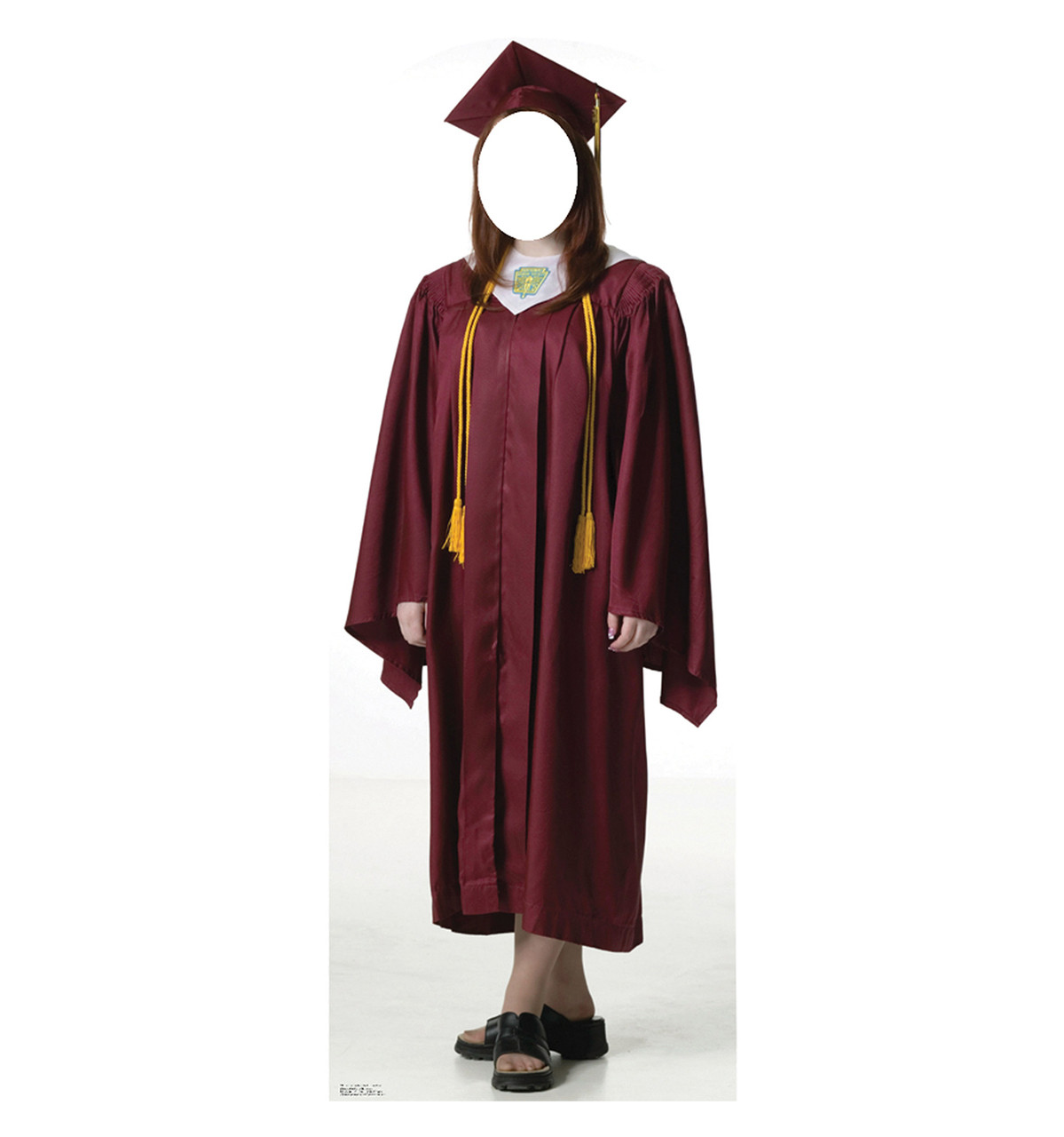 Life-size Female Graduate Red Cap and Gown Cardboard Standup ...