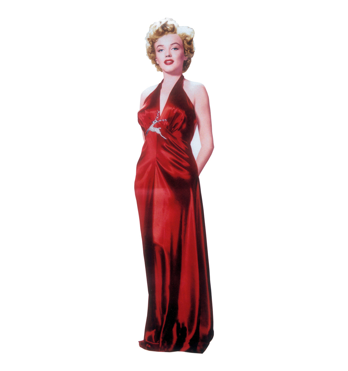 Life-size Marilyn Monroe-Red Gown Cardboard Standup