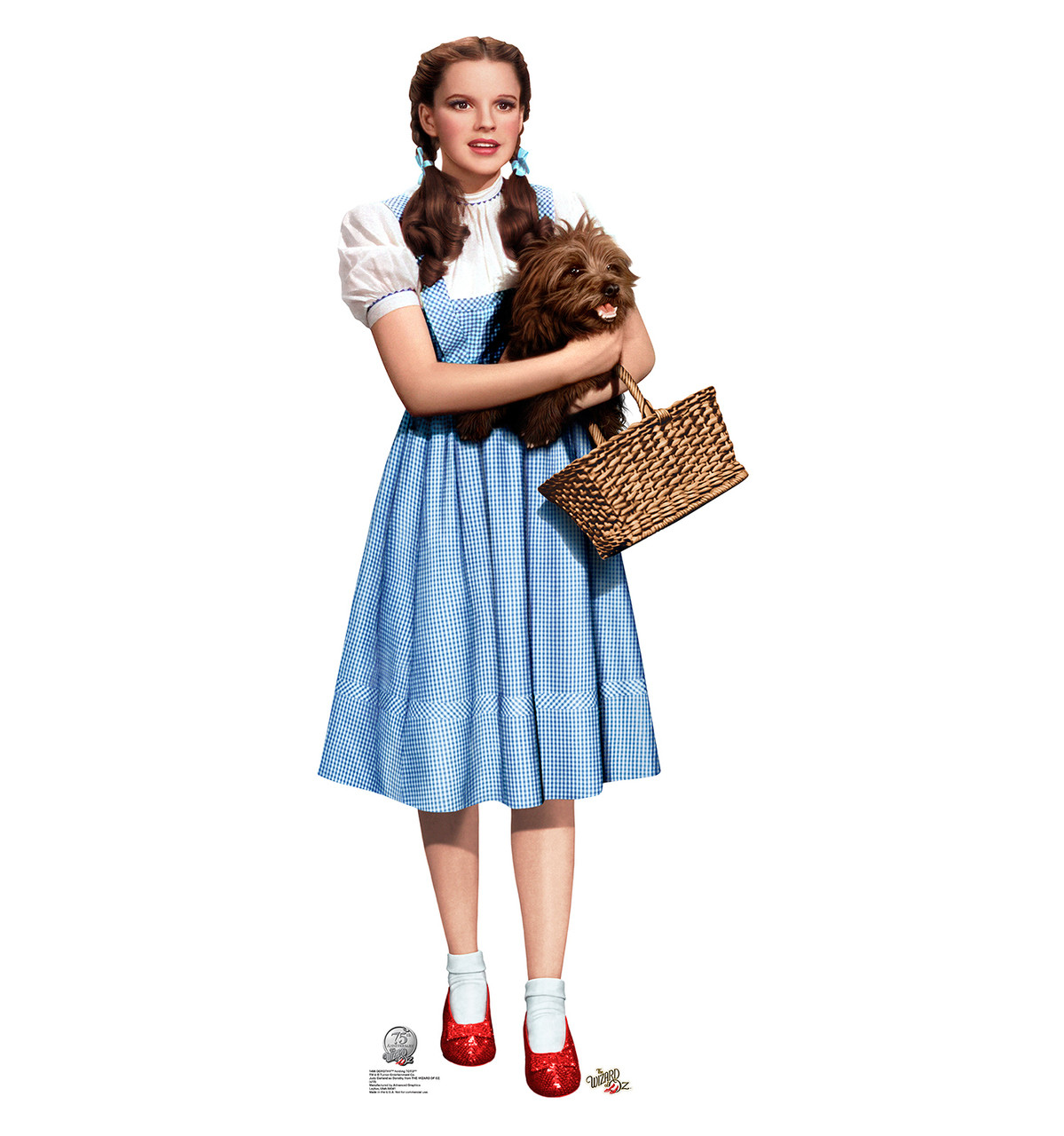 Life size dorothy and toto wizard of oz cardboard standup dorothy and toto wizard of oz cardboard cutout thecheapjerseys Choice Image