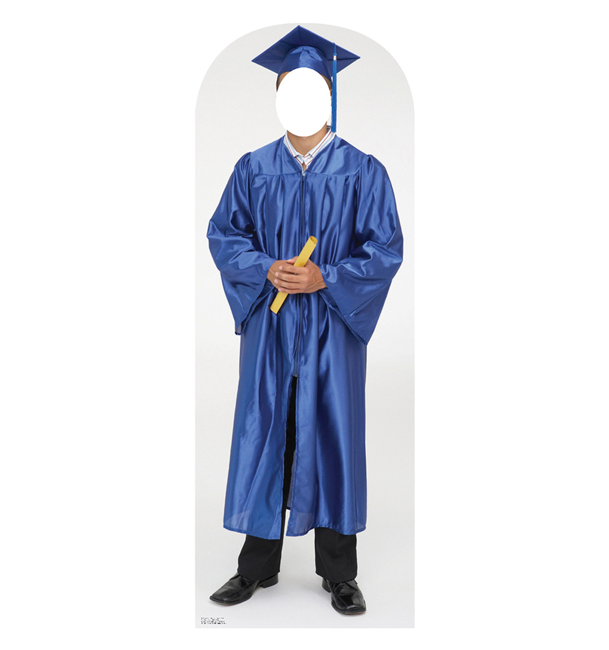 Life-size Male Graduate Blue Cap and Gown Cardboard Standup ...