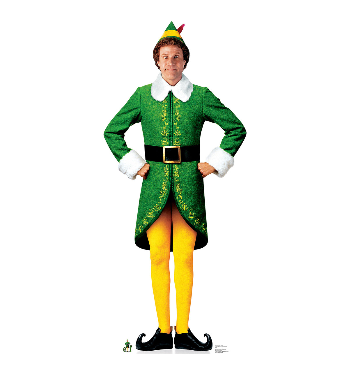 Life Size Buddy The Elf Movie Elf Cardboard Standup