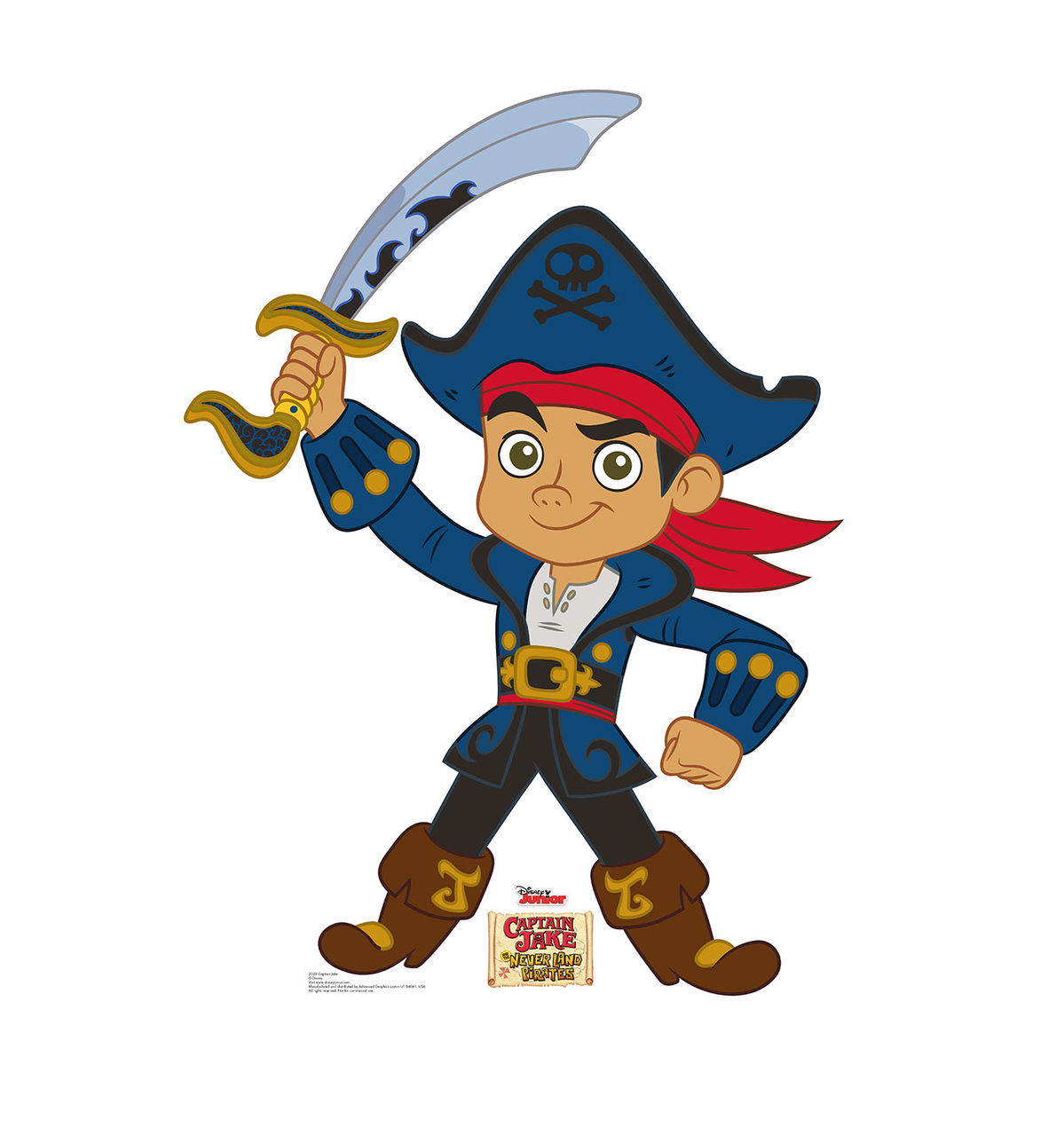 jake and the neverland pirates captain hook coloring pages - life size captain jake jake and the neverland pirates