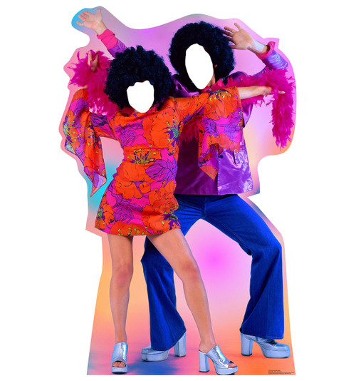 lifesize 70s disco dance couple standin cardboard