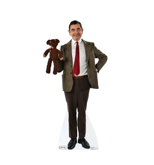 life size mr bean and teddy cardboard standup cardboard. Black Bedroom Furniture Sets. Home Design Ideas