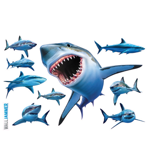 Life size sharks wall decal for Life size shark plush