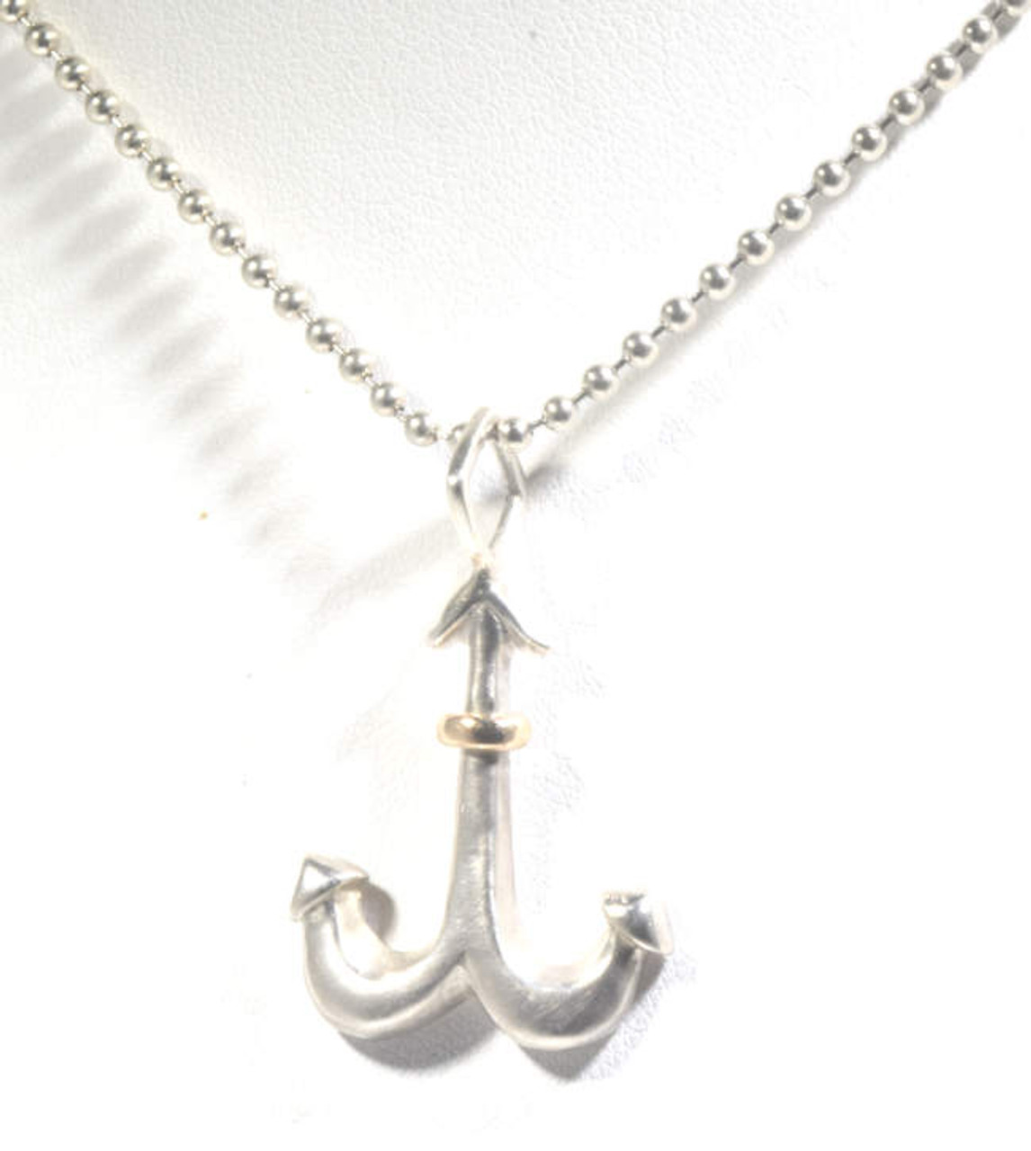 Anchor pendant the anchor pendant is hand crafted in portland maine the anchor is sterling silver aloadofball Images