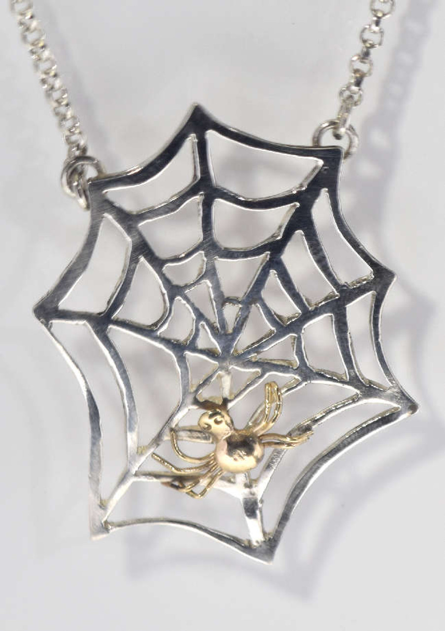 Top Single Cobweb Necklace FH95