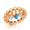 ROSE GOLD PLATED STACKABLE W/DANGLING STONES CZ RING