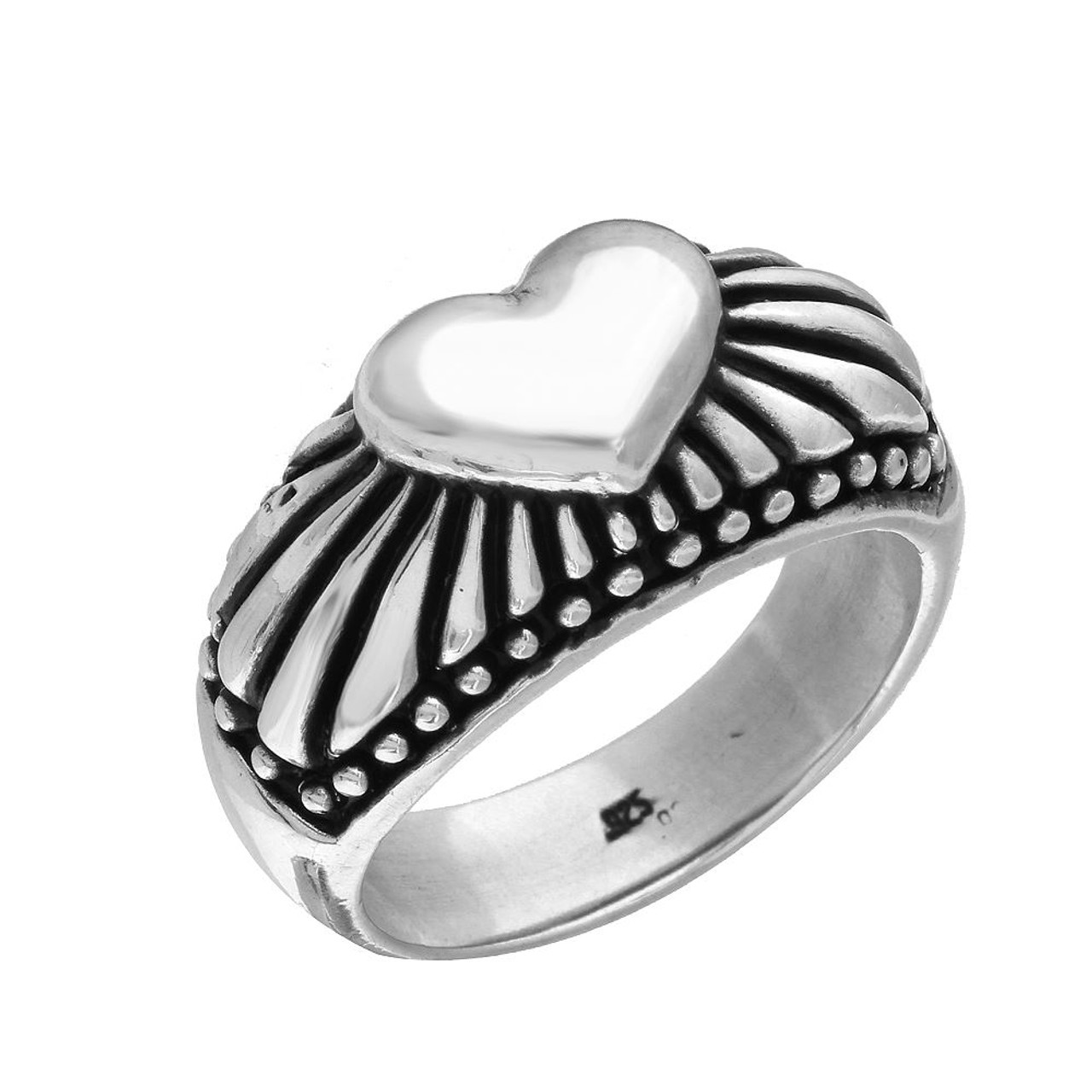 bc224e2b1 TWISTED BLADE SILVER RADIANT HEART RING