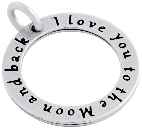 """""""I LOVE YOU TO THE MOON"""" CIRCLE CHARM"""