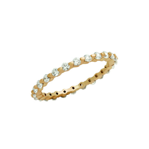 ROSE GOLD PLATED CZ ETERNITY BAND