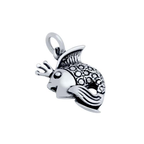 STERLING SILVER FANCY FISH CHARM