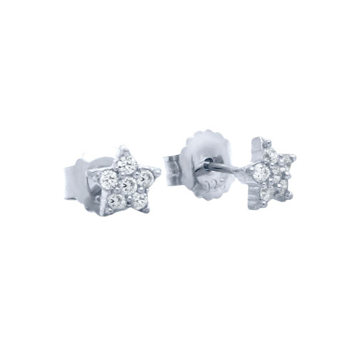 PAVE CZ STAR POST EARRINGS