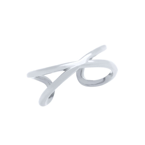 RHODIUM PLATED WRAPPED INFINITY ADJUSTABLE RING