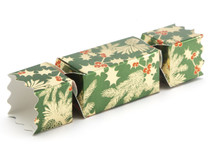Small Twist End Cracker - Traditional Holly | Meridian Speciality Packaging