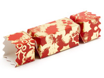Small Twist End Cracker - Red and Gold Holly| MeridianSP