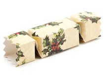 Small Twist End Cracker - Kraft Holly| MeridianSP