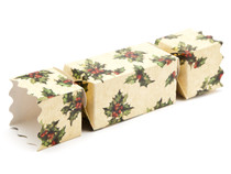 Medium Twist End Cracker - Kraft Holly | MeridianSP
