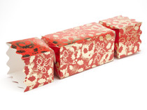 Giant Twist End Cracker - Red and Gold Holly| MeridianSP