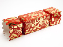 Extra Large Twist End Cracker - Red and Gold Holly | Meridian Speciality Packaging