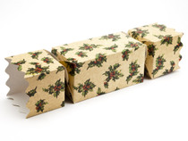 Extra Large Twist End Cracker - Kraft Holly | Meridian Speciality Packaging