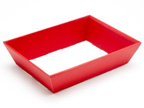 Hamper Tray - Small Shallow Card Tray Hamper - Deluxe Red | Meridian Speciality Packaging