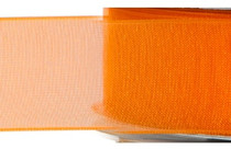 Chiffon Ribbon - Orange - (x1 reel 25mtr) | MeridianSP