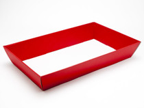 Hamper Tray - Large Card Tray Hamper - Deluxe Red | Meridian Speciality Packaging