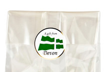 32mm Round Gift Label - A Gift From Devon (250pcs) | Meridian Speciality Packaging
