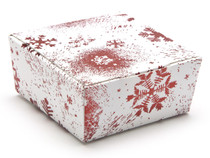 4 Choc Ballotin - Red and White Snowflake| MeridianSP