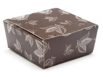 4 Choc Ballotin - Brown Cocoa Pod | Meridian Speciality Packaging