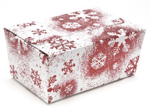 375g Ballotin - Red and White Snowflake | Meridian Speciality Packaging